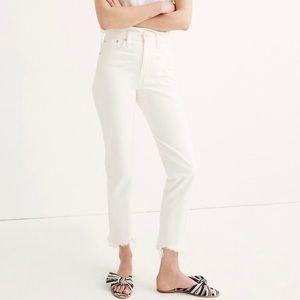 Madewell White Frayed Hem Summer Jeans